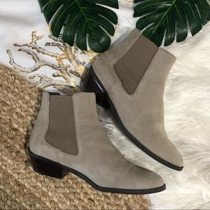 14th & Union Leather Chelsea suede ankle booties